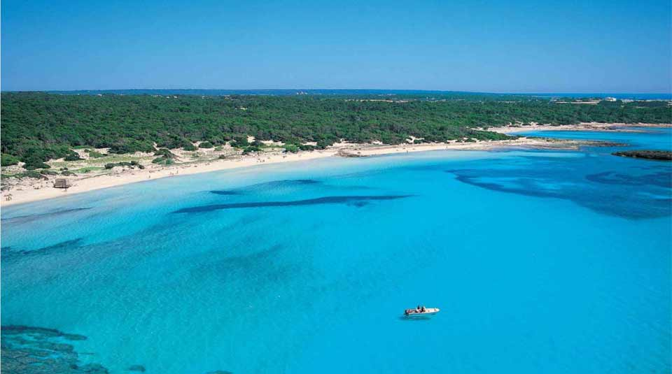 Blick auf Mallorcas Südküste bei Campos
